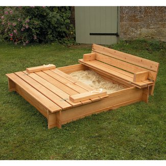 How to build a wooden sandbox