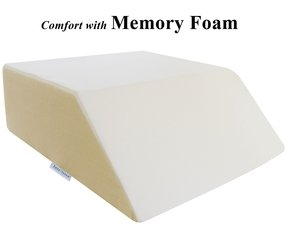 "InteVision Ortho Bed Wedge with High Quality, Removable Cover (Size: 8"" x 21"" x 24"". Color: Ivory)"
