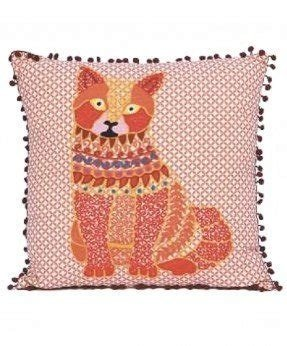 Karma living orange cat throw pillow