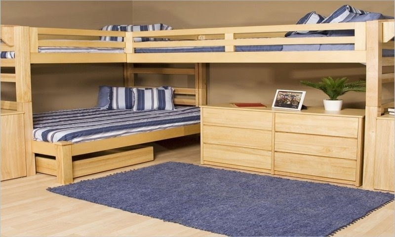L Formed Loft Bunk Beds L Shaped Bunk Beds For Kids - Ideas on Foter