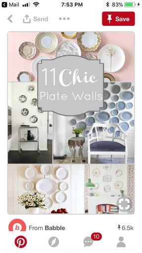 Large decorative plates for display