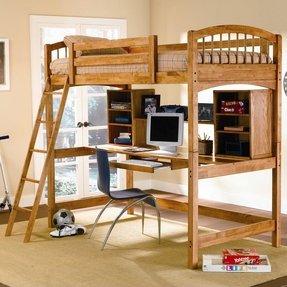Pine Loft Bed With Desk Ideas On Foter