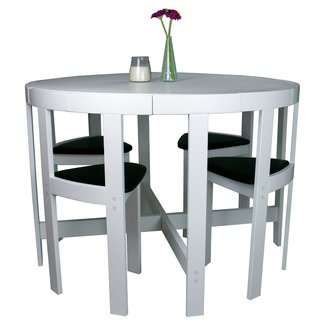 NORDIC Furniture 5-Piece Dinette Set, White