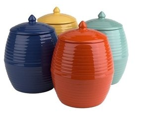 Orange Kitchen Canisters 12
