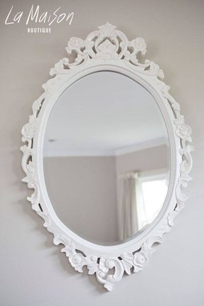 Antique White Oval Mirror Foter