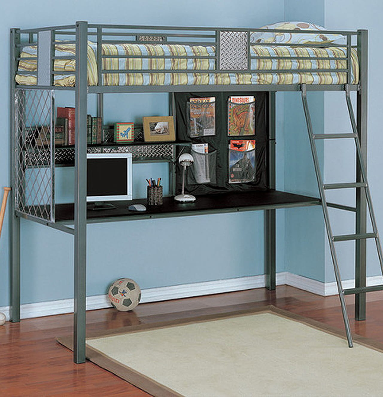 Powell furniture monster bedroom twin study bunk bed 1 & Powell Loft Bed With Desk - Ideas on Foter