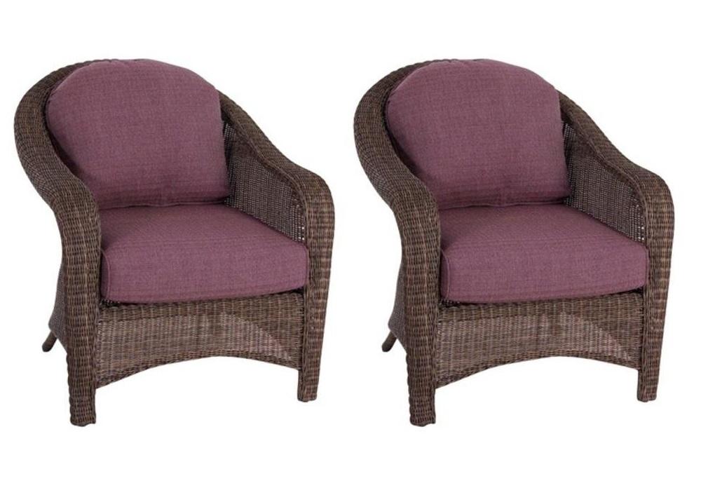 Purple Patio Cushions