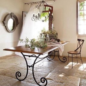 Rod iron dining table 6