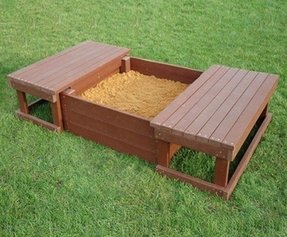 Wood Sandbox With Cover Foter