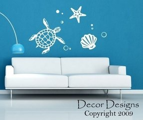 Sea turtle wall decal 4