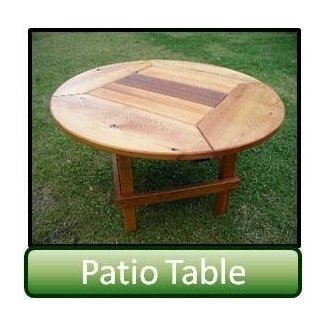 Shoreline cedar round patio table yard and garden and outdoor