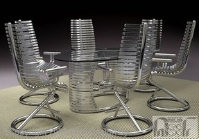 Stainless steel dining set by advanced stainless steel furniture