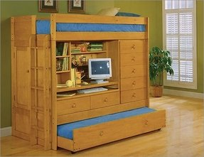 Trundle bunk beds with storage