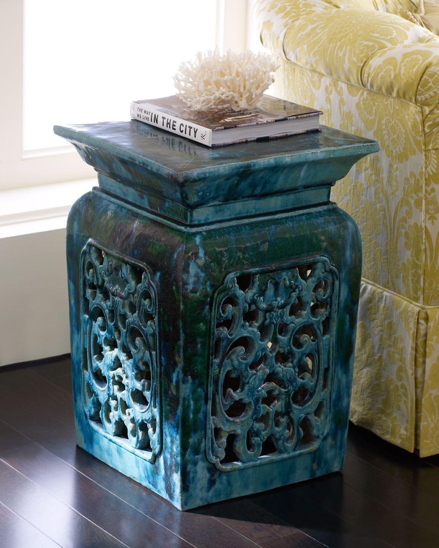 Green Garden Stool Ceramic Foter