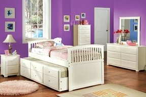 White trundle bed with storage 1