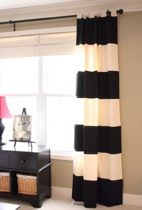 Wide Striped Curtains - Foter