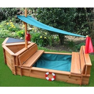 Wood sandbox with cover 1