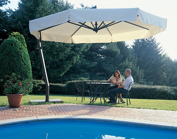 Incroyable 13 Heavy Duty Aluminum Offset Patio Umbrella