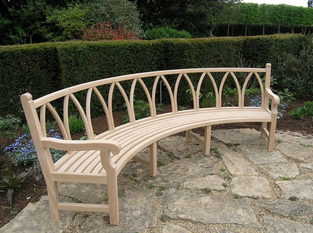 Delicieux Curved Garden Bench Curved Garden Bench Bespoke Item Poa