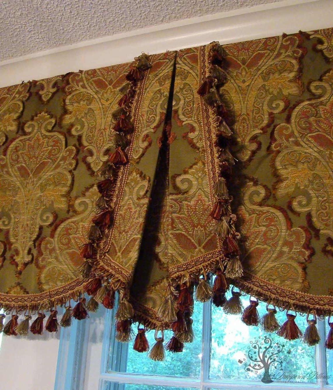 Custom window valance your fabric made