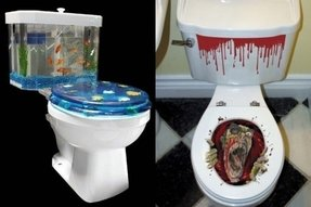 Fish toilet seat cover