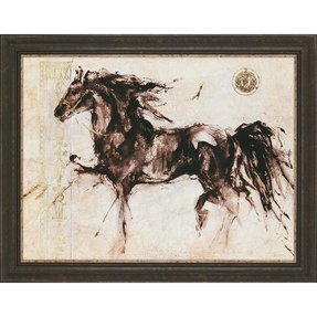 Horse Silhouette by Gottfried Framed Painting Print