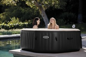Intex 79In X 79In X28In PureSpa Portable Jet & Bubble Deluxe Set