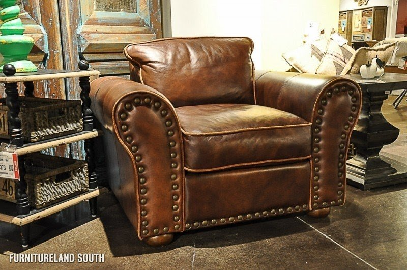 Delightful Leather Sofas With Nailhead Trim 3
