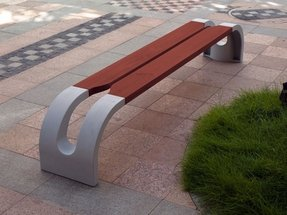 Metal outdoor benches 5