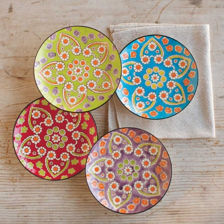 Nightmare before christmas dinnerware set  sc 1 st  Foter & Set Of 4 Decorative Plates - Foter