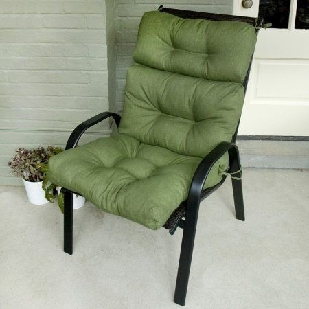 Patio Cushions Pillows Outdoor High Back Chair Cushions Solid Colors