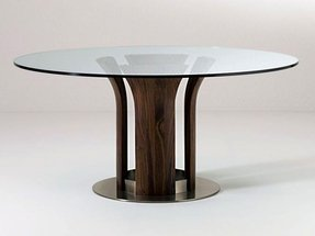 Pedestal for glass table