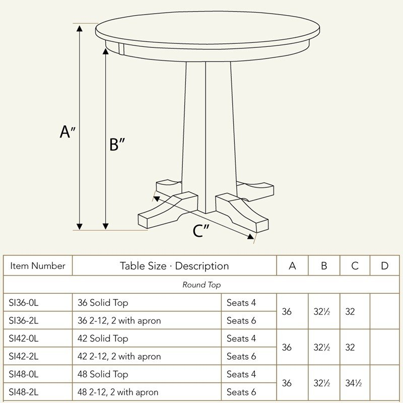 Pub Table Dimensions