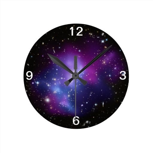 Purple Galaxy Room Decor Wall Clock