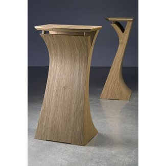 Quarter sawn white oak speaker stands 3
