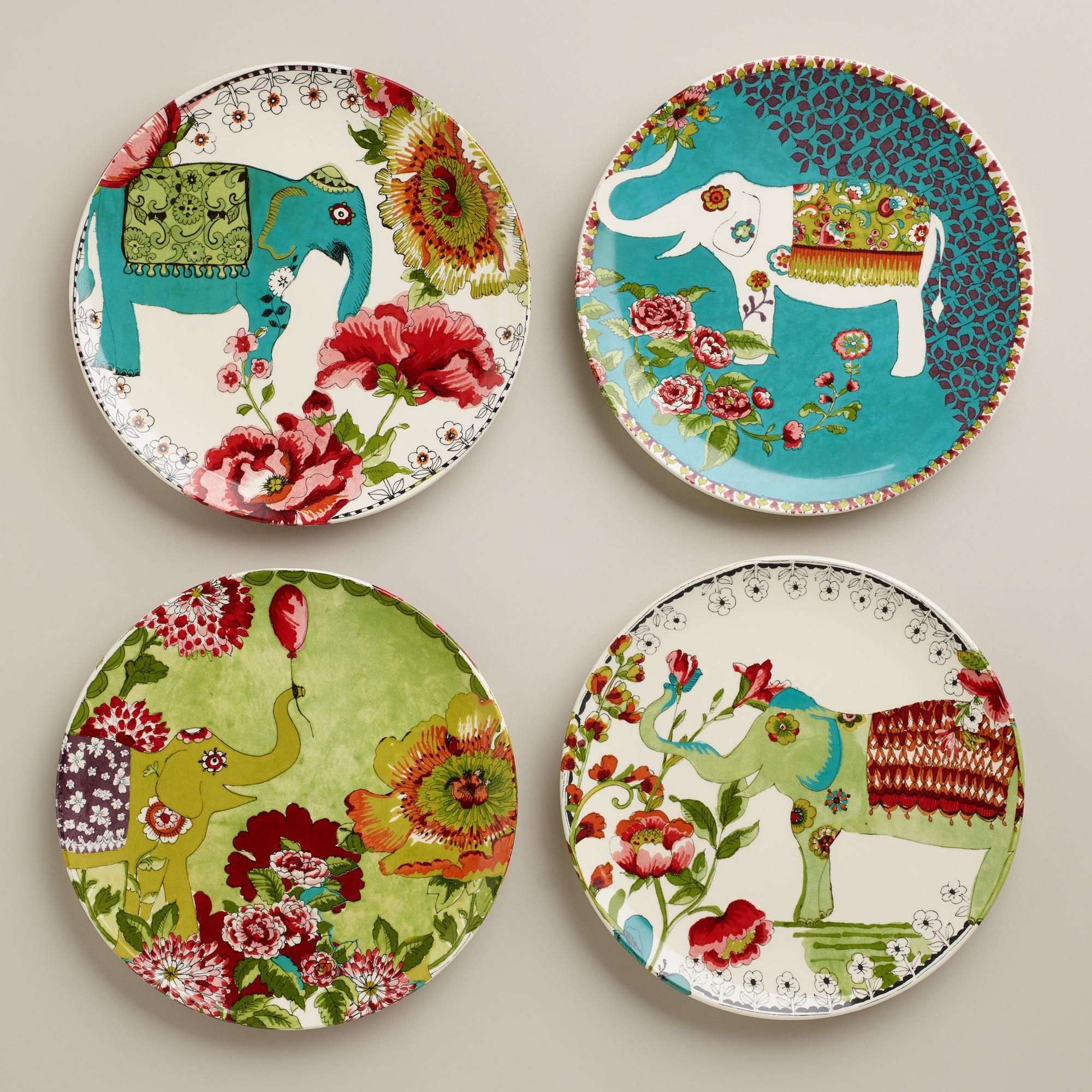 Set of 4 decorative plates 1 & Set Of 4 Decorative Plates - Foter