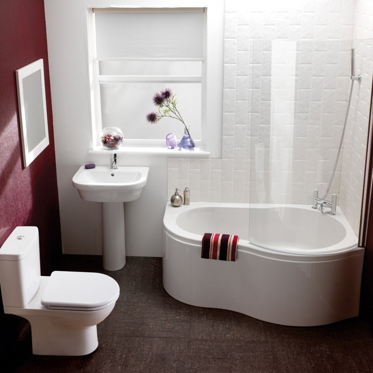 Charmant Small Corner Tub Shower Combo