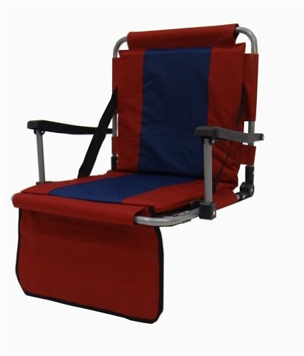 Stadium Seat With Padded Seat And Back And Armrests