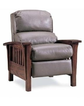 Thomasville leather chair and ottoman