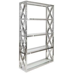 Worlds away clifton stainless steel etagere modern bookcases