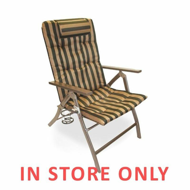Marvelous 5 Position Folding Arm Chair 1