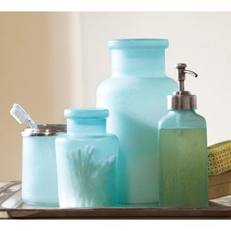Beach glass bath accessories 1