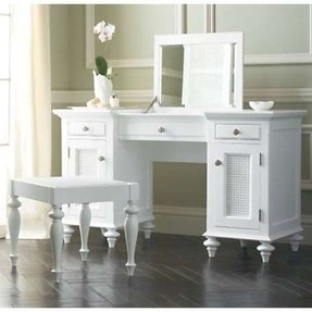 Bedroom vanity with storage