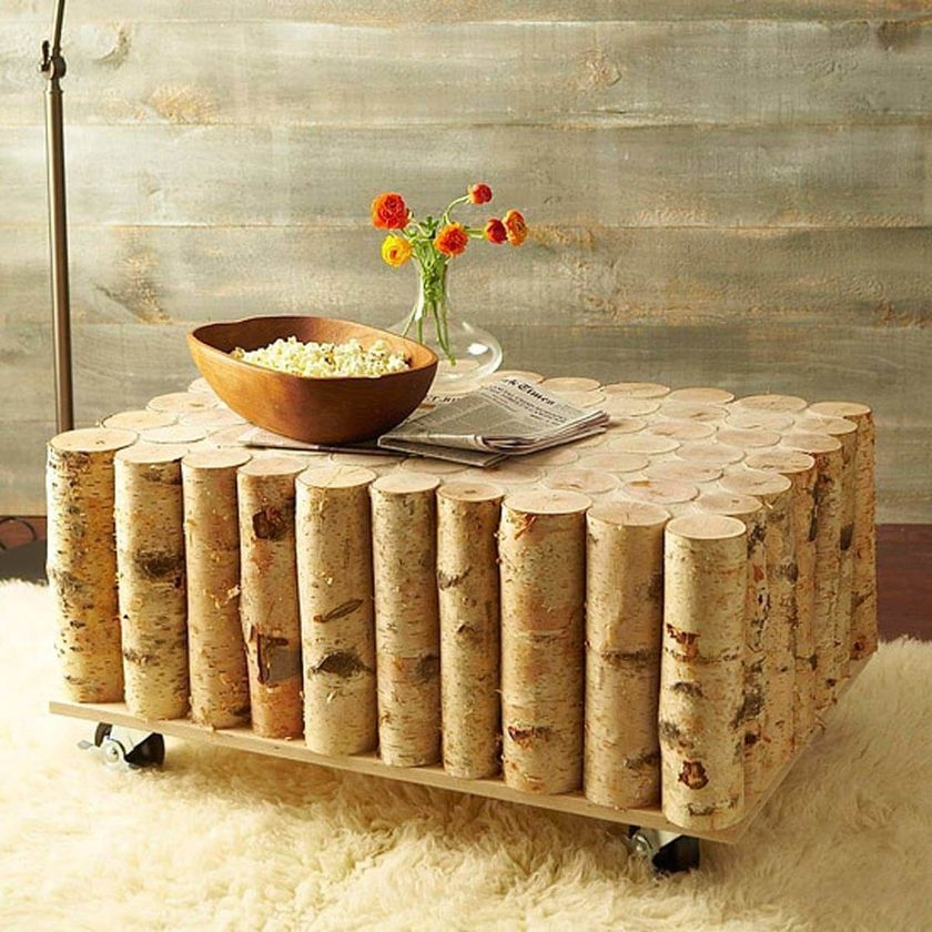 Exceptionnel Birch Coffee Table