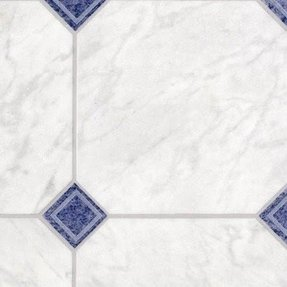 Blue And White Vinyl Floor Tiles