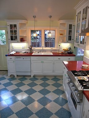 Blue and white vinyl flooring foter for White kitchen vinyl floor