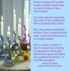 Colored glass candlesticks 18