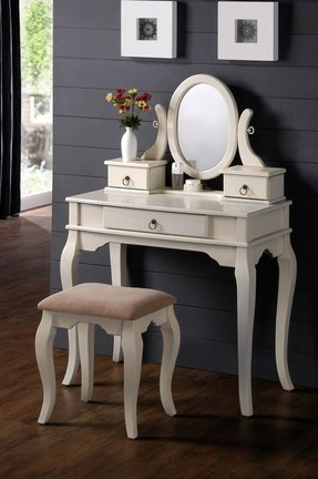 White Vanity Table With Mirror Foter