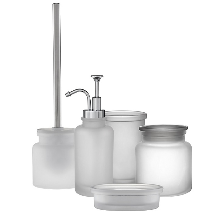 Merveilleux Frosted Glass Bathroom Accessories 2