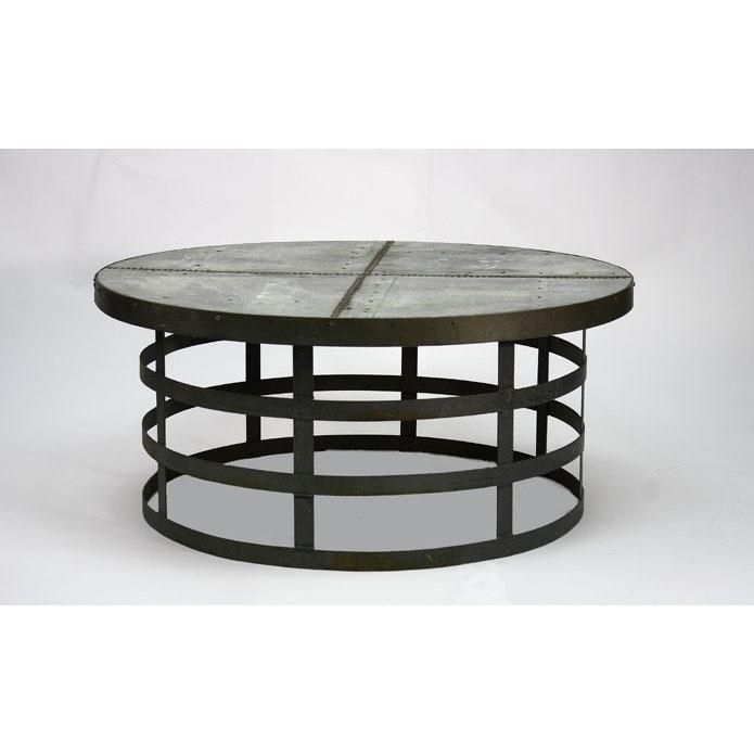 Home Zentique Recycled Metal Round Coffee Table